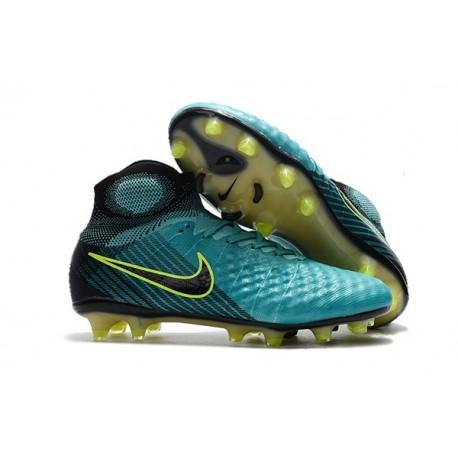 Nike Magista Obra 2 FG 2017 Crampon de Football Bleu Volt Noir