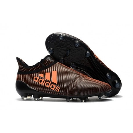 Crampons de Foot adidas X 17+ Purespeed FG Orange Noir