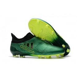 Crampons de Foot adidas X 17+ Purespeed FG Vert Noir Volt