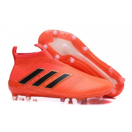 the best attitude b7943 f7ad6 ... netherlands adidas ace 17 purecontrol fg crampons de football orange  noir ec93d b13f0