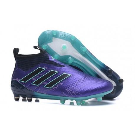 Adidas Ace 17+ Purecontrol FG Crampons de Football - Legend Ink Noir Energy Aqua
