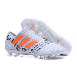 Chaussure adidas Nemeziz 17+ 360 Agility FG - Crampons pour Hommes Blanc Orange Gris