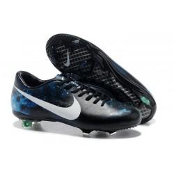 Nouveau Chaussure de Football Nike Mercurial Vapor IX FG Galaxie Bleu Noir Blanc