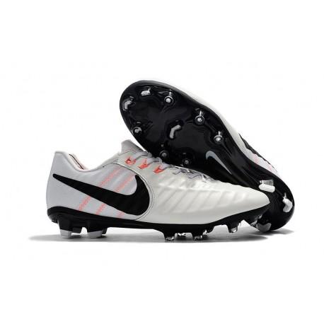Nike Crampon de Foot Tiempo Legend 7 FG ACC Blanc Noir