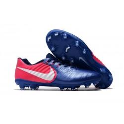 Nike Crampon de Foot Tiempo Legend 7 FG ACC Bleu Rose