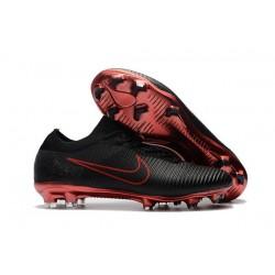 Chaussures de Foot Nike - Nike Mercurial Vapor Flyknit Ultra FG Noir Rouge