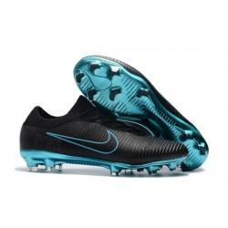 Chaussures de Foot Nike - Nike Mercurial Vapor Flyknit Ultra FG Noir Bleu