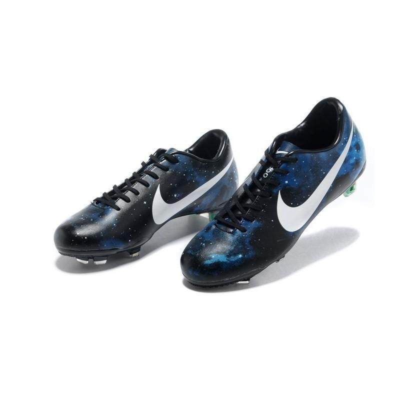online retailer edc95 5d3ae ... nouveau chaussure de football nike mercurial vapor ix fg galaxie bleu  noir blanc