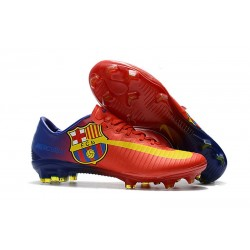 Nike Mercurial Vapor XI FG 2017 Crampon de Foot Barcelona Rouge Bleu Jaune