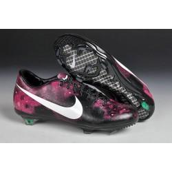 2014 Chaussures de foot Nike Mercurial Vapor IX FG Galaxie Rose Noir Blanc