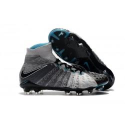 Crampons de Football Nike Hypervenom Phantom III DF FG - pour Hommes Gris Noir Bleu