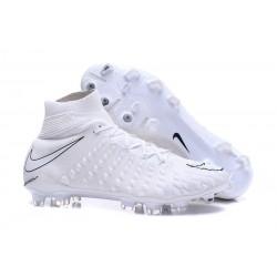 Crampons de Football Nike Hypervenom Phantom III DF FG - pour Hommes Tout Blanc