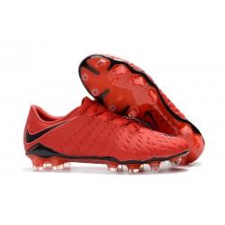 Chaussures de Football pour Hommes - Nike Hypervenom Phantom 3 FG Rouge Noir