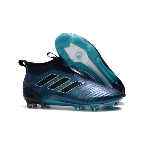 Chaussures Homme Nouveaux 2017 adidas Ace 17+ Purecontrol FG - Bleu Noir