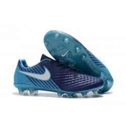 Neuf Crampon de Football Nike Magista Opus II FG pour Hommes Bleu Blanc