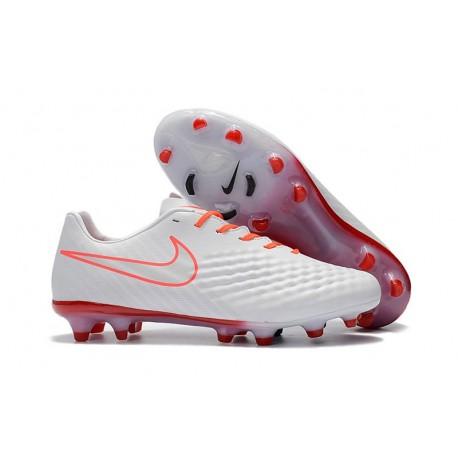 Nouveau Chaussure de Football Nike Magista Opus II FG Hommes Blanc Orange
