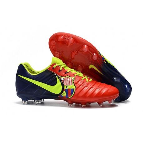 Nouvelles Crampons Nike pour Hommes - Tiempo Legend 7 FG Rouge Bleu Volt