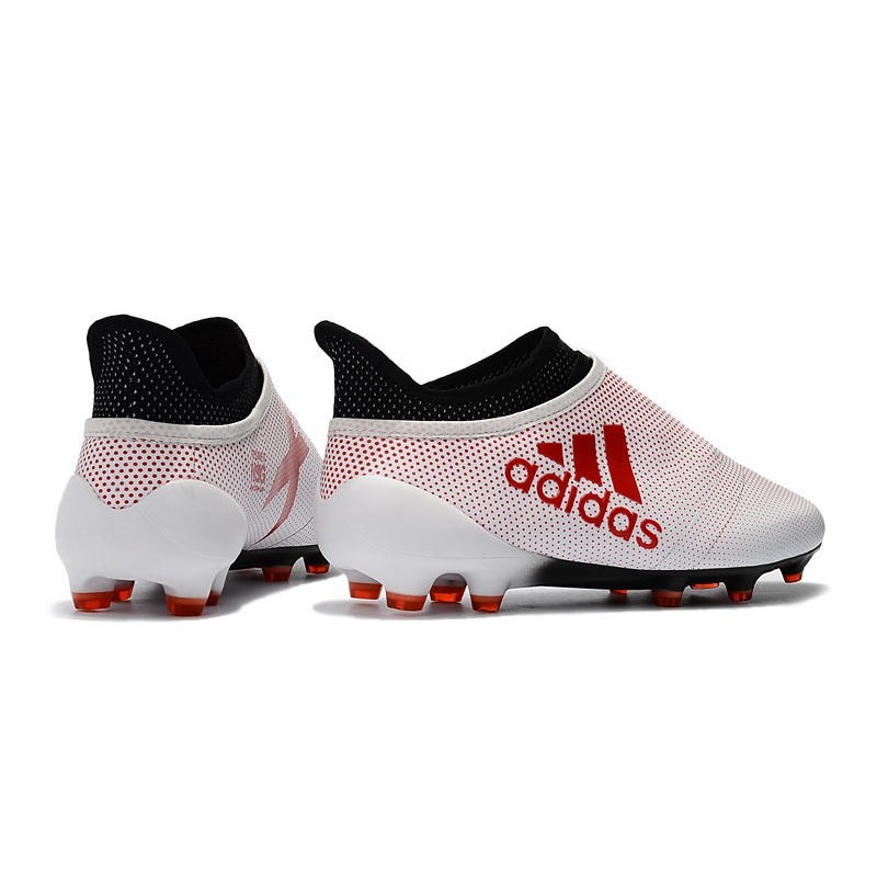 online retailer f0eaf 07b41 Crampons de Foot adidas X 17+ Purespeed FG Blanc Rouge Noir