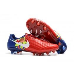Neuf Crampon de Football Nike Magista Opus II FG pour Hommes Barcelona Rouge Bleu