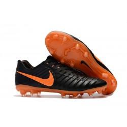 Nouvelles Crampons Nike pour Hommes - Tiempo Legend 7 FG Noir Orange