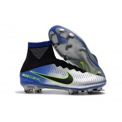 new style 36aad 8d092 Nike Mercurial Superfly V FG ACC Chaussure de Football Bleu Noir Chrome Volt