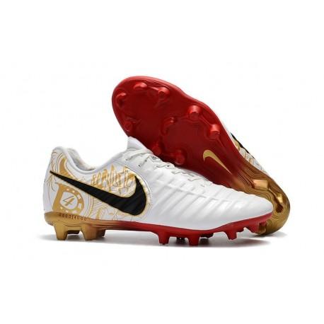 Nouvelles Crampons Nike pour Hommes - Tiempo Legend 7 FG Blanc Or Vif