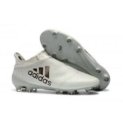 Crampons de Foot adidas X 17+ Purespeed FG Blanc Noir