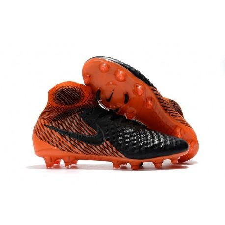 Nouvelles Nike Magista Obra 2 FG Crampons de Football Noir Blanc Rouge Université