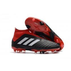Nouveau Chaussures de Foot Adidas Predator 18+ FG Noir Rouge Blanc