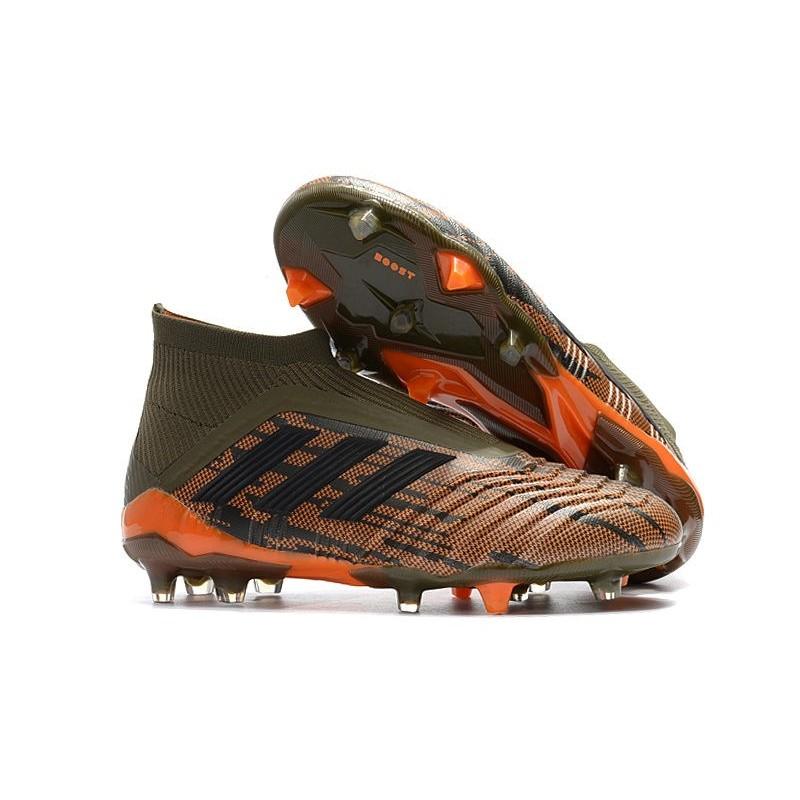 san francisco 40d30 914ec Nouveau Chaussures de Foot Adidas Predator 18+ FG Olive Noir