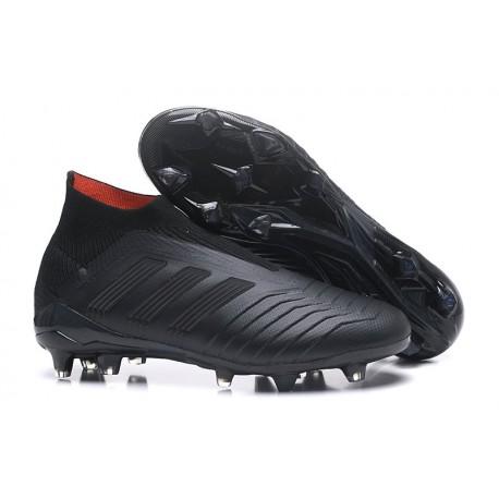 Nouveau Chaussures de Foot Adidas Predator 18+ FG Tout Noir