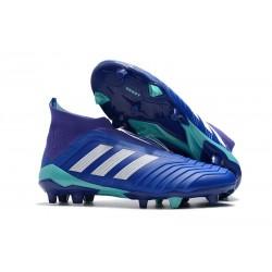 Nouveau Chaussures de Foot Adidas Predator 18+ FG Bleu Blanc