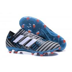 Nouveau Chaussures Football Adidas Nemeziz Messi 17.1 FG Gris Noir Bleu