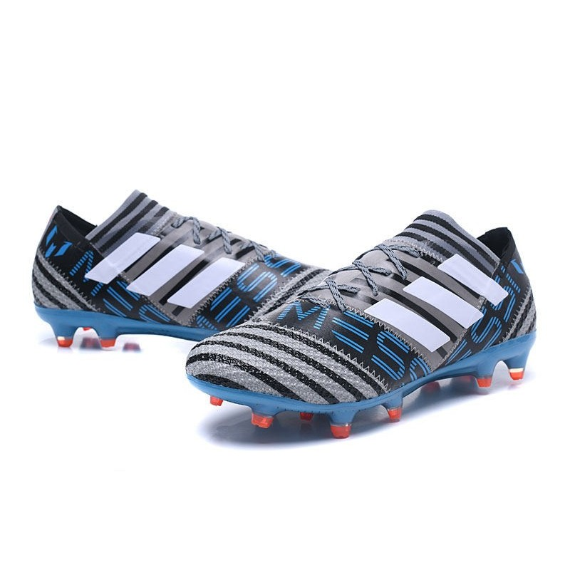 Football Nouveau 1 Fg Messi Bleu Chaussures Noir Gris Adidas Nemeziz 17 fy6gYb7