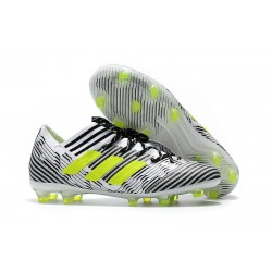 Nouveau Chaussures Football Adidas Nemeziz Messi 17.1 FG Blanc Jaune Noir