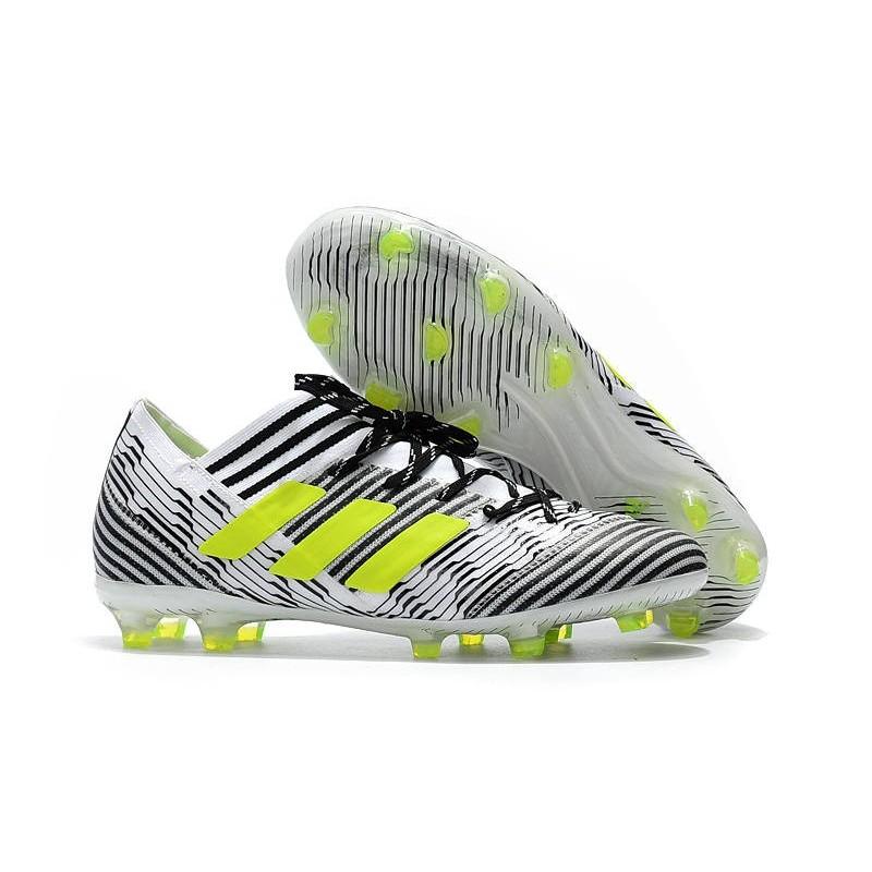 Nemeziz Football Chaussures Fg Blanc Jaune 1 Adidas Messi 17 Nouveau wSBvw