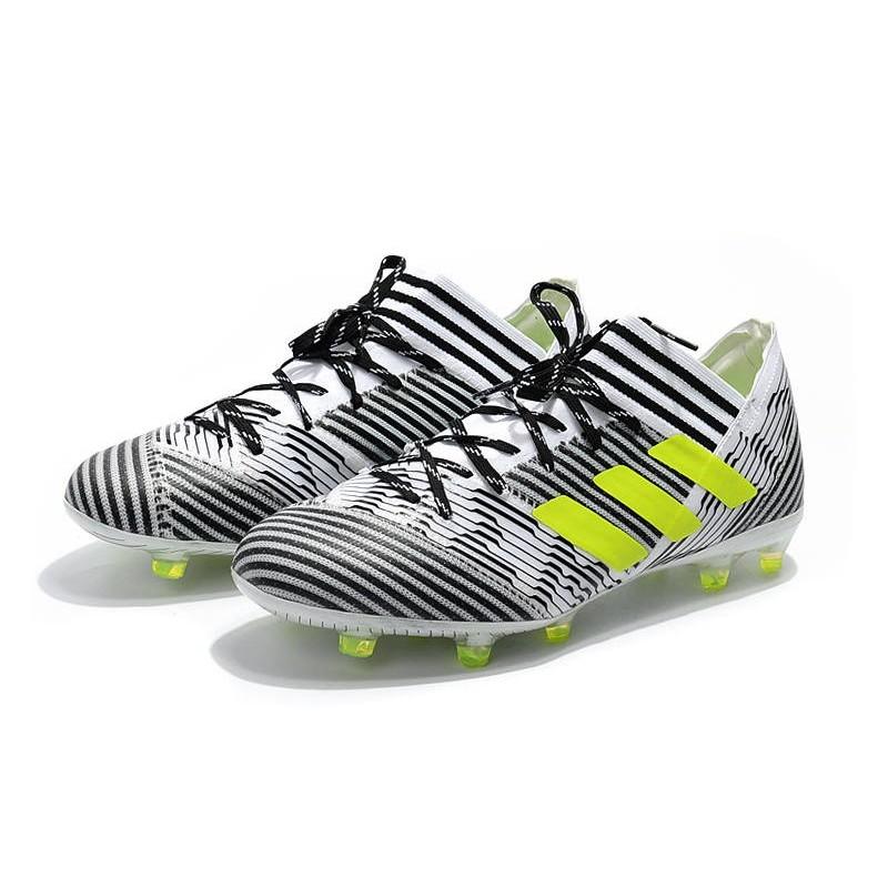 3a10354f2e4 Adidas nemeziz Messi 17.1 FG Noir Blanc Jaune Chaussures de football