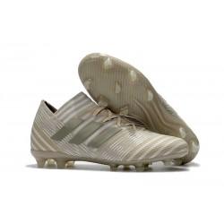 Nouveau Chaussures Football Adidas Nemeziz Messi 17.1 FG Blanc Or