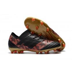 Nouveau Chaussures Football Adidas Nemeziz Messi 17.1 FG Noir Rouge Or
