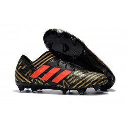 Nouveau Chaussures Football Adidas Nemeziz Messi 17.1 FG Noir Or Orange