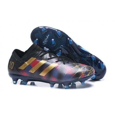 Nouvelles Chaussure adidas Nemeziz 17+ 360 Agility FG Messi Noir Or Bleu