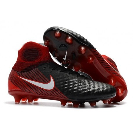 guetter prix fou 2019 original Nouveau Chaussures de Football Nike Magista Obra FG BHM Blanc Noir Bleu  Rouge