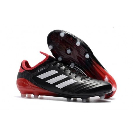 Nouveau Crampons Football Adidas Copa 18.1 FG Noir Blanc Rouge