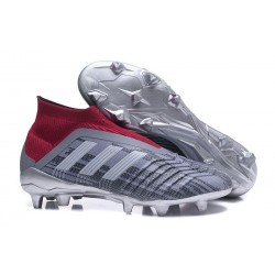 Nouveau Chaussures de Foot Adidas Predator 18+ FG Pogba Gris Rouge