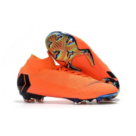 Crampons de football Nike Mercurial Superfly VI 360 Elite FG Orange Noir Volt