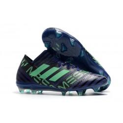 Nouveau Chaussures Football Adidas Nemeziz Messi 17.1 FG Encre Vert Noir