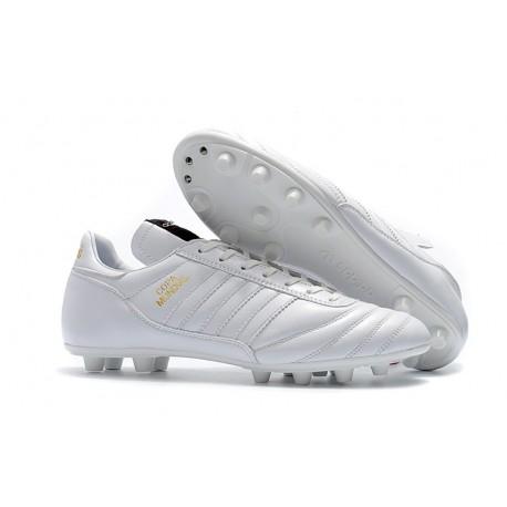 Nouveau Crampons de Foot Adidas Copa Mundial FG Hommes Blanc Or
