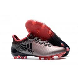 Crampons de Football - Adidas X 17.1 FG pour Hommes Gris Rose Noir