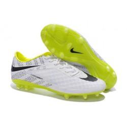 2014/2015 Nouvelle Nike Hypervenom Phantom FG Hommes Blanc Jaune Noir Pack de Réflexion