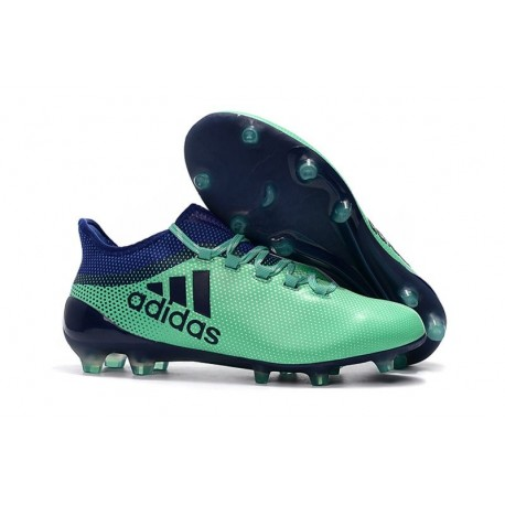 Crampons de Football - Adidas X 17.1 FG pour Hommes Vert Aero Encre Vert